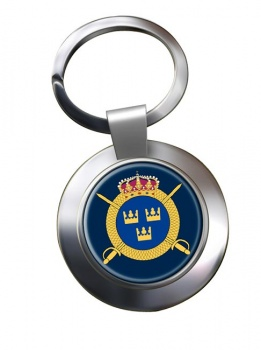 Livregementets husarer (Swedish Hussars) Chrome Key Ring