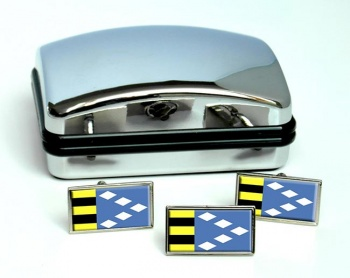 Sudwest-Fryslan (Netherlands) Flag Cufflink and Tie Pin Set
