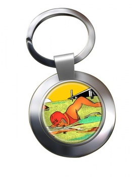 Sea Swimming Chrome Key Ring