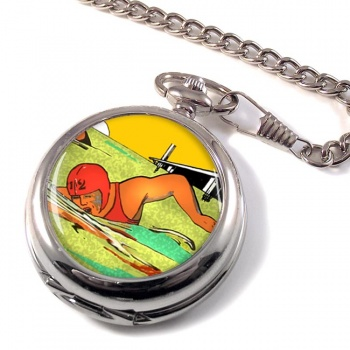 Sea Swimming Pocket Watch