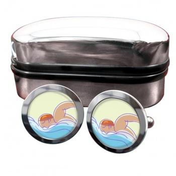 Swimming Round Cufflinks