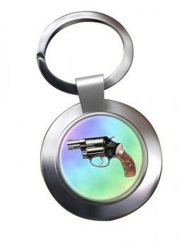 Smith & Wesson Police Special Chrome Key Ring