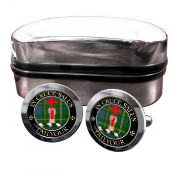 Tailyour Scottish Clan Round Cufflinks