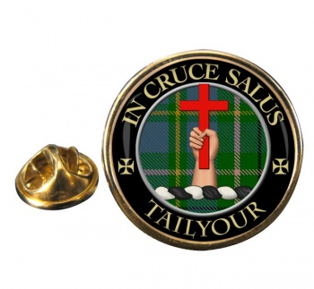 Tailyour Scottish Clan Round Pin Badge