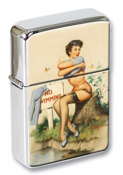 Taking a Chance Pin-up Girl Flip Top Lighter