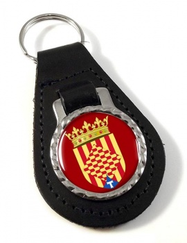Tarragona (Spain) Leather Key Fob