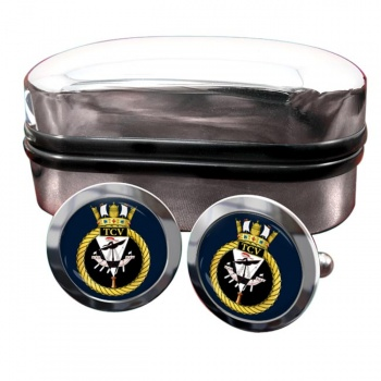 HM Tank Cleaning Vessels (Royal Navy) Round Cufflinks