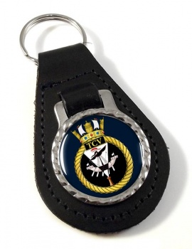 HM Tank Cleaning Vessels (Royal Navy) Leather Key Fob