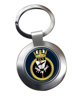 HM Tank Cleaning Vessels (Royal Navy) Chrome Key Ring