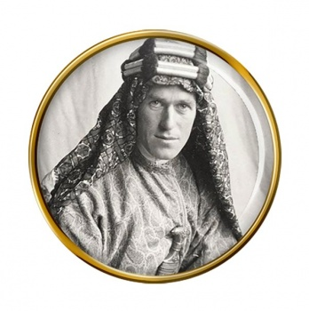 T.E. Lawrence Round Pin Badge
