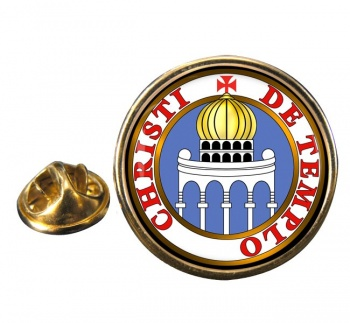 Knights Templar Seal Reverse Round Pin Badge