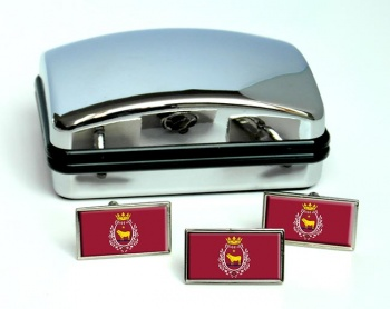 Teruel Ciudad (Spain) Flag Cufflink and Tie Pin Set