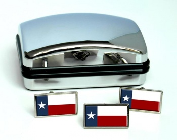 Texas  Flag Cufflink and Tie Pin Set