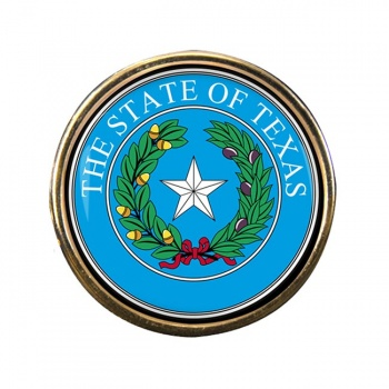 Texas Round Pin Badge