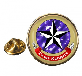 Texas Ranger Division Round Pin Badge