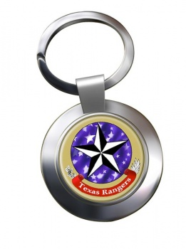 Texas Ranger Division Chrome Key Ring