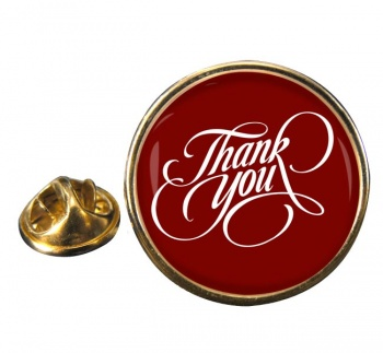 Thank You Round Pin Badge