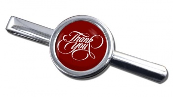 Thank You Round Tie Clip