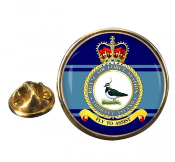 RAF Station Thorney Island Round Pin Badge