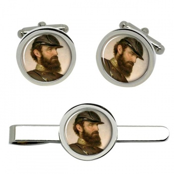 Thomas Stonewall Jackson Cufflink and Tie Clip Set
