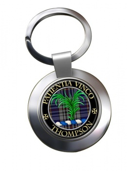 Thompson Scottish Clan Chrome Key Ring