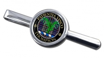 Thompson Scottish Clan Round Tie Clip