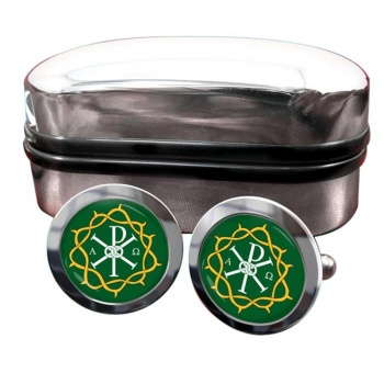 Crown of Thorns Round Cufflinks