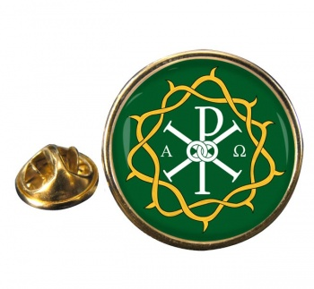 Crown of Thorns Round Pin Badge