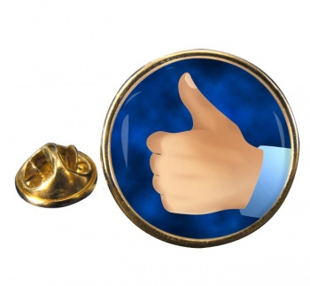Thumbs Up Round Pin Badge