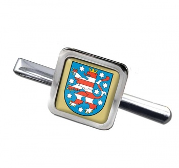 Thuringen (Germany) Square Tie Clip