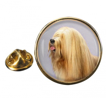 Tibetan Terrier Round Pin Badge