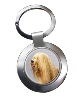Tibetan Terrier Metal Key Ring