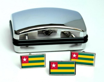 Togo Flag Cufflink and Tie Pin Set