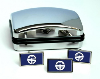 Tokushima  (Japan) Flag Cufflink and Tie Pin Set