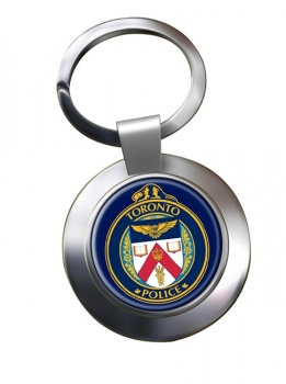 Toronto Police Chrome Key Ring