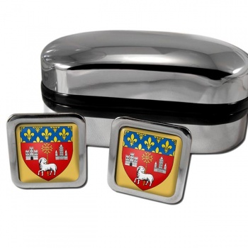 Toulouse France Square Cufflinks
