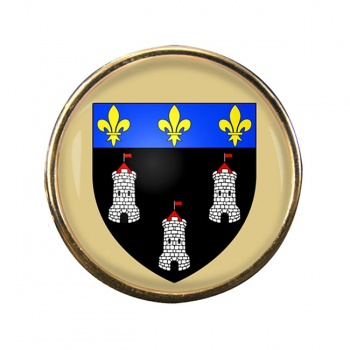 Tours (France) Round Pin Badge