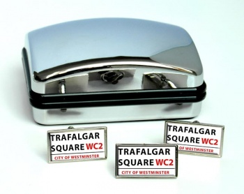 Trafalgar Square Rectangle Cufflink and Tie Pin Set