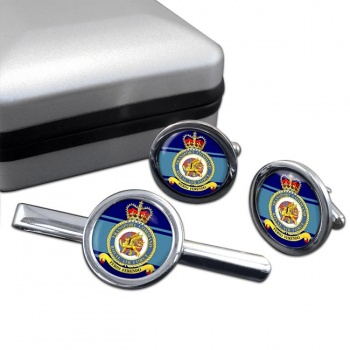 Transport Command (Royal Air Force) Round Cufflink and Tie Clip Set