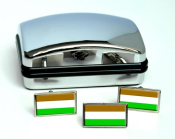 Transkei (South Africa) Flag Cufflink and Tie Pin Set