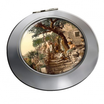 A Trieste Peasant Family Chrome Mirror