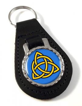 Trinity Knot Leather Keyfob