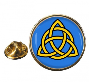 Trinity Knot Round Pin Badge
