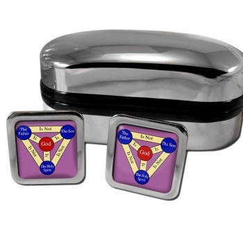 Shield of the Trinity  (Scutum Fidei)  Square Cufflinks