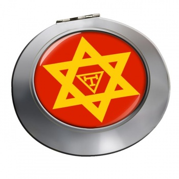 Triple Tau Star of David Masonic Chrome Mirror
