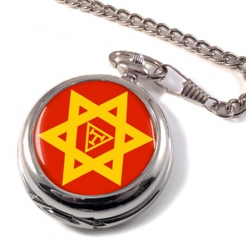 Triple Tau Star of David Masonic Pocket Watch