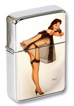 Trunk Call Pin-up Girl Flip Top Lighter