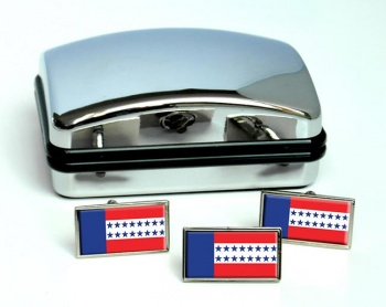 Tuamotus Flag Cufflink and Tie Pin Set