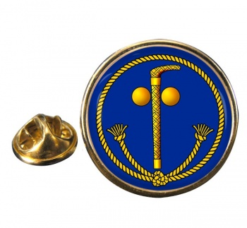 Tubal Cain (Two Ball and Cane) Masonic Round Pin Badge