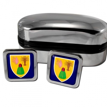 Turks and Caicos Islands Square Cufflinks